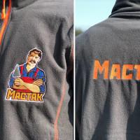 Флисовая куртка с вышивкой логотипа