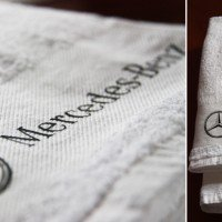 Полотенце с логотипом мерседес