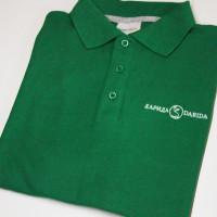Рубашка поло с машинной вышивкой логотипа в 1 цвет.