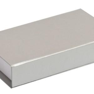 Коробочка «Блеск» подарочная, серебристая