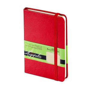 Ежедневник-блокнот недатированный Megapolis-Journal, A6, бежевый блок, без обреза, ляссе, с резинкой