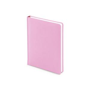 Ежедневник недатированный Velvet, А6+, нежно-розовый, белый блок, без обреза, ляссе