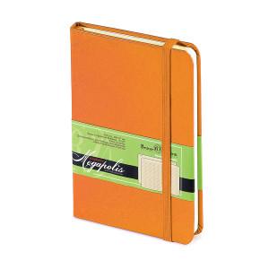 Ежедневник-блокнот недатированный Megapolis-Journal, А6, бежевый блок, без обреза, ляссе, с резинкой