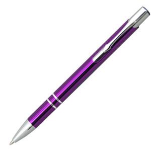 Ручка шариковая, COSMO, металл, фиолетовый