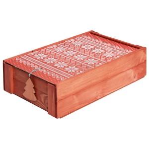 Подарочный новогодний набор «Уютный зимний вечер», красный