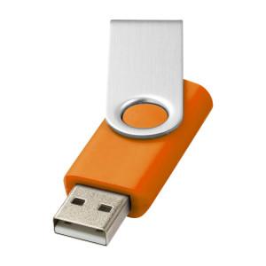 """Флеш-карта USB 2.0 на 1 Gb """"Rotate basic"""", оранжевый"""