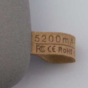 Внешний аккумулятор Pebble 5200 мАч, серый