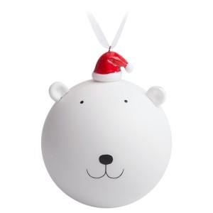 Елочный шар с фигуркой «Новогодний мишка»