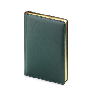 Ежедневник недатированный Sidney Nebraska, А5, белый блок, золотой обрез, ляссе