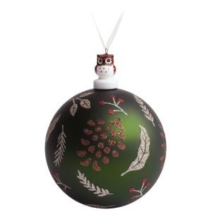 Елочный шар с фигуркой «Зимняя листва»
