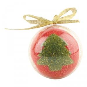 Новогодний шар в футляре. Футляр раскрывается на две половинки, в него можно положить сладости или просто повесить на елку в качестве игрушки
