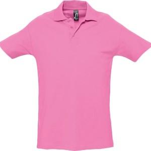 Рубашка поло мужская SPRING 210, розовая