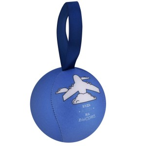 Шарик-антистресс с пожеланием «Самолет», голубой