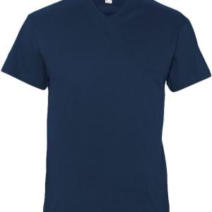 Футболка мужская с V-обр. вырезом VICTORY 150, темно-синяя (navy)