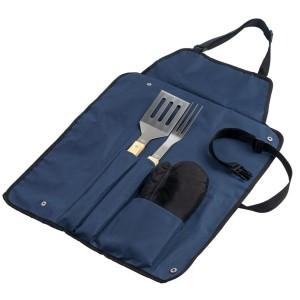Фартук с набором для барбекю Grill Master, синий