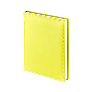 Ежедневник недатированный Velvet, желтый, белый блок, без обреза, ляссе