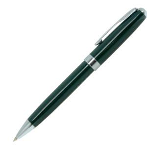 Ручка шариковая, металл, зеленый