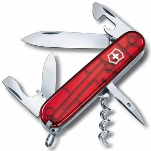 Офицерский нож SPARTAN 91, прозрачный красный