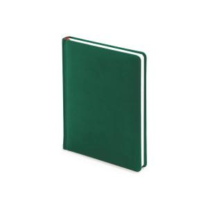 Ежедневник недатированный Velvet, А6+, темно-зеленый, белый блок, без обреза, ляссе