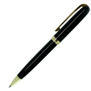 Ручка шариковая, металл, черный, золото, КОНСУЛ