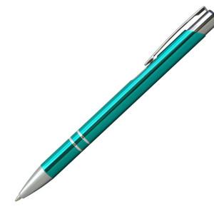 Ручка шариковая, COSMO, металл, бирюзовый