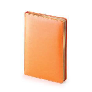 Ежедневник недатированный Sidney Nebraska, А5, белый блок, золотой обрез