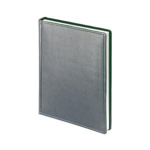 Ежедневник недатированный Velvet, серый, белый блок, без обреза, ляссе
