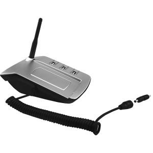 USB-разветвитель с переходниками для зарядки телефона и шариковой ручкой