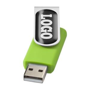 """Флеш-карта """"Rotate doming"""" USB 2.0 на 2 Гб, лайм"""
