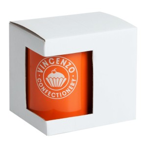 Коробка для кружки с окошком, белая