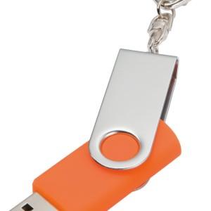 Флешка Twist, оранжевая, 16 Гб