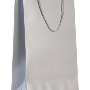Пакет бумажный «Блеск», средний, серебристый