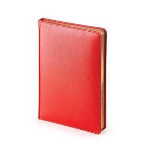 Ежедневник недатированный Sidney Nebraska, красный, белый блок, золотой обрез, ляссе