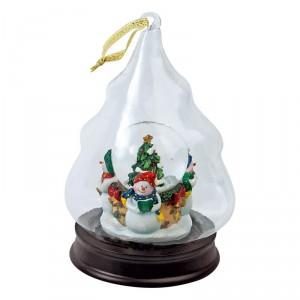 Новогоднее украшение в форме елки со снеговиками