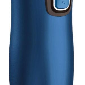 Термостакан Contigo West Loop, вакуумный, герметичный, матовый синий металлик