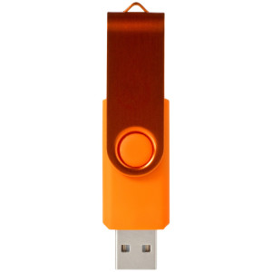 "Флеш-карта ""Rotate Metallic"" USB 2.0 на 2 Gb, оранжевый"