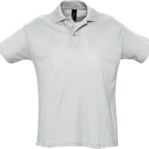 Рубашка поло мужская SUMMER 170, светло-серый меланж