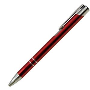 Ручка шариковая, COSMO, металл, красный