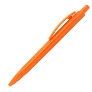 Ручка шариковая, пластик, оранжевый
