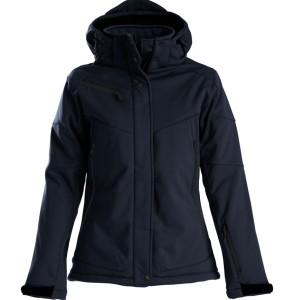 Куртка софтшелл женская Skeleton Lady, темно-синяя