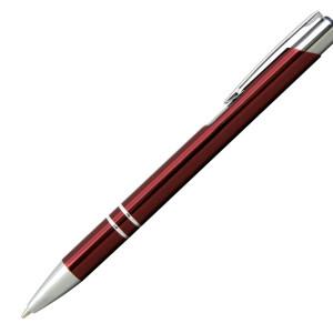 Ручка шариковая, COSMO, металл, бордовый