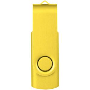 """Флеш-карта """"Rotate Metallic"""" USB 2.0 на 2 Gb, желтый"""