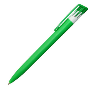 Ручка шариковая, пластик, зеленый