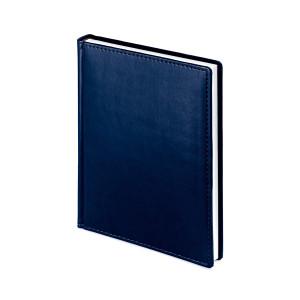 Ежедневник недатированный Velvet, синий navy, белый блок, без обреза, ляссе