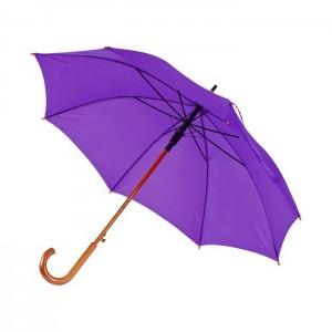 Классический зонт с деревянной, изогнутой ручкой