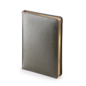 Ежедневник недатированный Sidney Nebraska, серый, белый блок, золотой обрез, ляссе