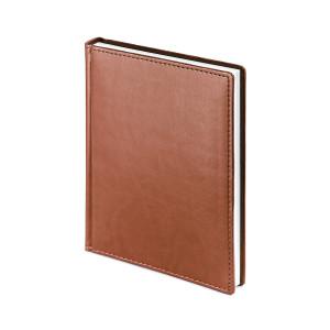 Ежедневник недатированный Velvet, светло-коричневый, белый блок, без обреза, ляссе