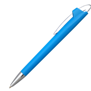 Ручка шариковая, пластик, светло-синий, АУРА