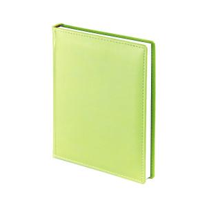 Ежедневник недатированный Velvet, зеленый флюор, белый блок, без обреза, ляссе