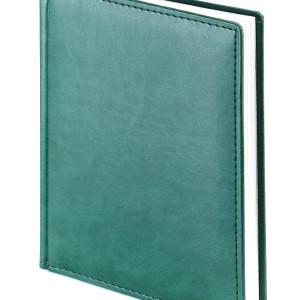 Ежедневник недатированный Velvet, зеленый, белый блок, без обреза, ляссе